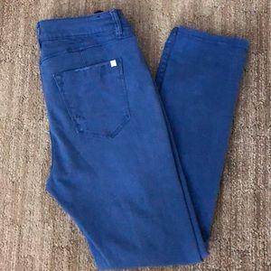 Bebe blue distressed jeans